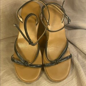 J. Crew made in Italy leather strapped sandals